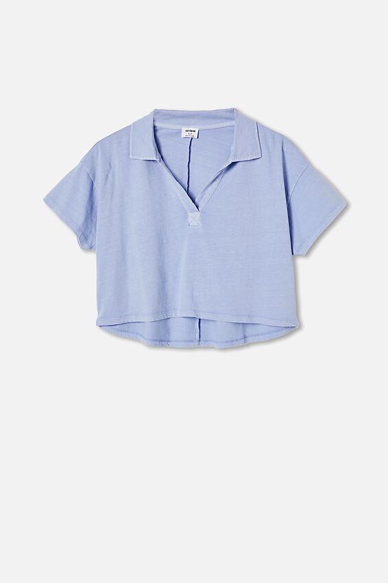 Ryan Short Sleeve Polo, WASHED VINTAGE BLUE