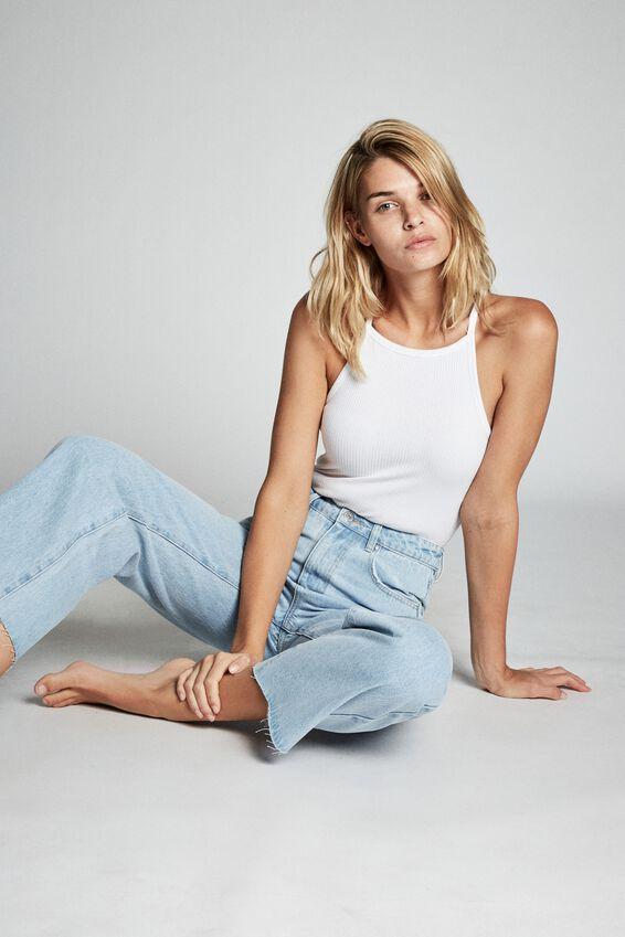 Wide Leg Jean, LAGUNA BLUE