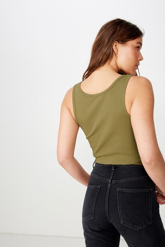 The Sister Crop Tank, DRIED HERB