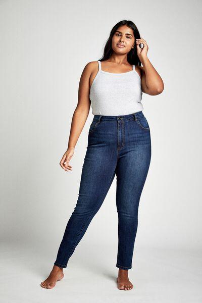 Curve Adrianna Full Skinny High Jean, DEEP BLUE