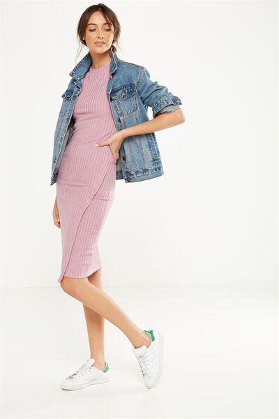 Anthea Short Sleeve Midi Dress, ORCHID HAZE TWIST