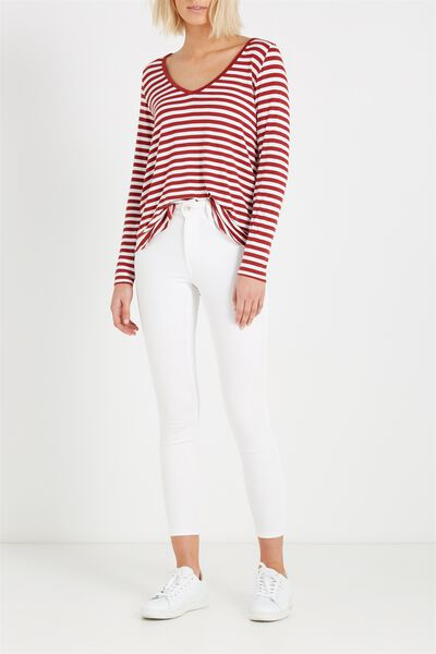 Mid Rise Shape Embracer Skinny Jean, WHITE