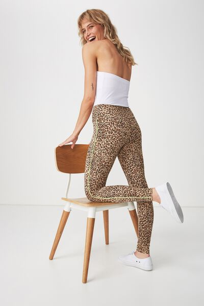Dakota Detail Legging, LIGHTNING LEOPARD/GREEN GLOW PIPE