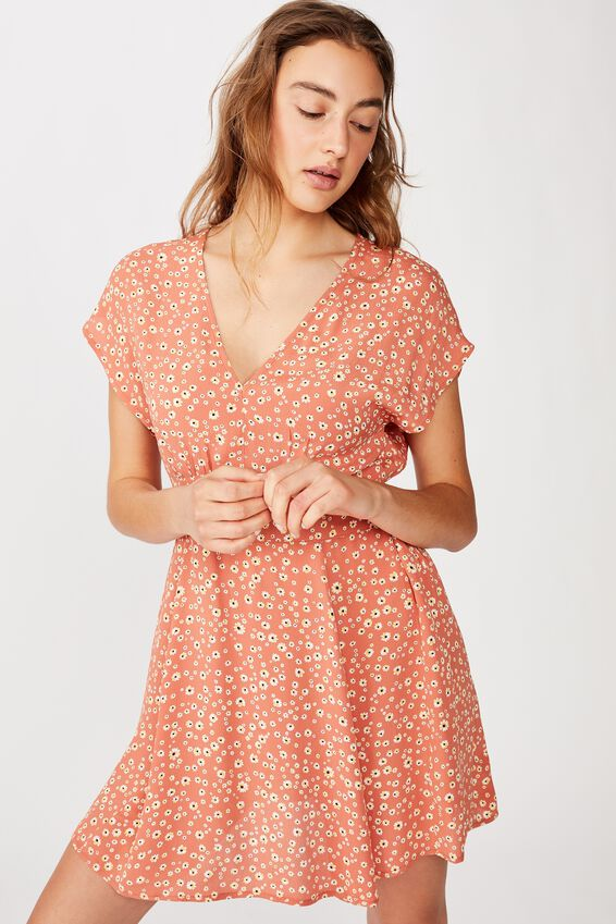 Woven Ultimate Tea Dress, EMMA DAISY APRICOT BRANDY