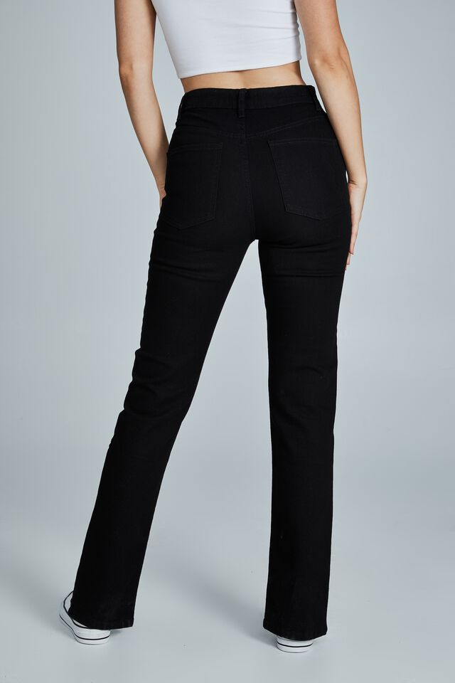 Skinny Split Jean, BLACK