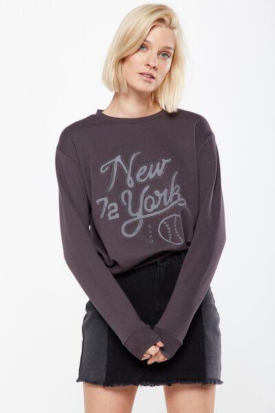 Ferguson Graphic Crew Sweater, NEW YORK 72/EBONY