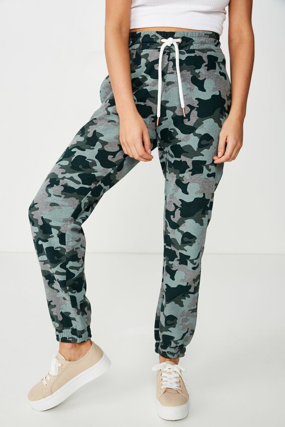 Slim Fit Trackpant, JOANNA CAMO/IVY