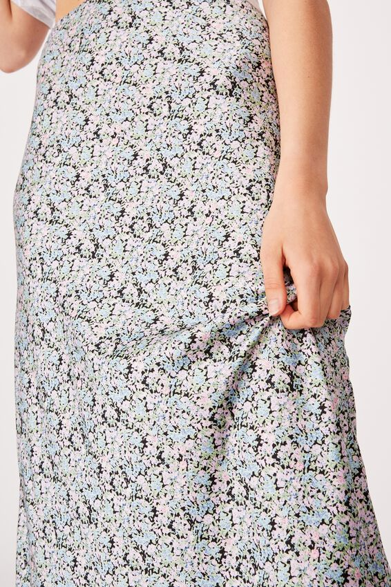 All Day Slip Skirt, BECCA FLORAL BLACK