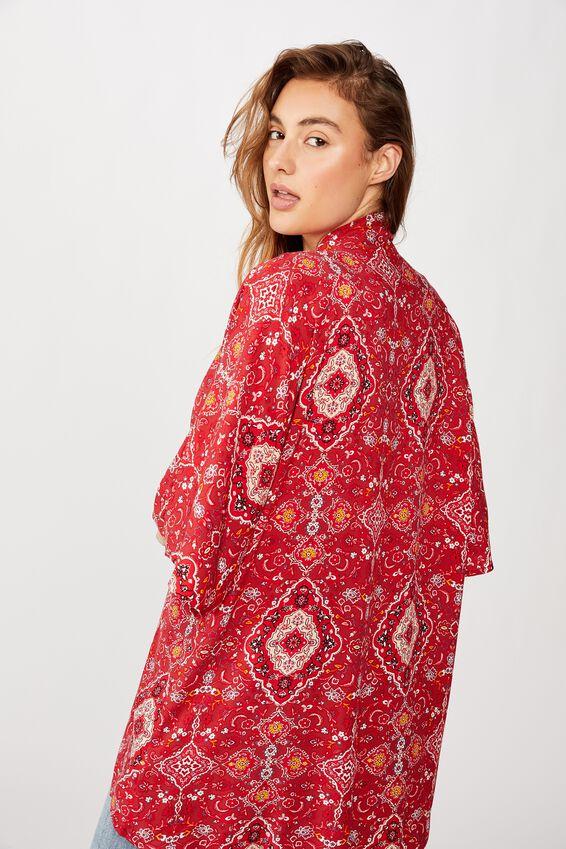 Wanderlust Kimono, SASHA PAISLEY GARNET