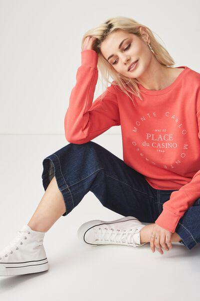Ferguson Graphic Crew Sweater, MONTE CARLO/ROSE PETAL