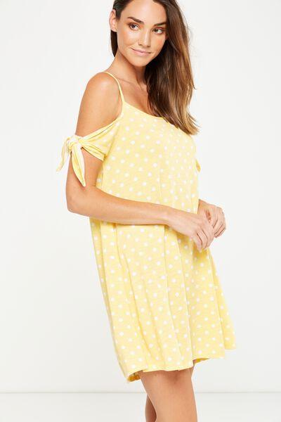 Sanza Cold Shoulder Dress, JESSIE SPOT SUNDRESS