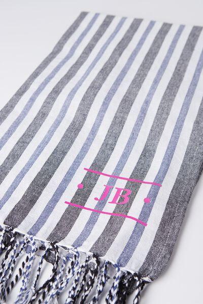 Tolve Turkish Towel, BENGAL STRIPE