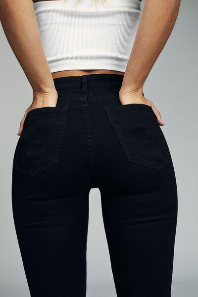 High Rise Skinny Jean, CORE BLACK