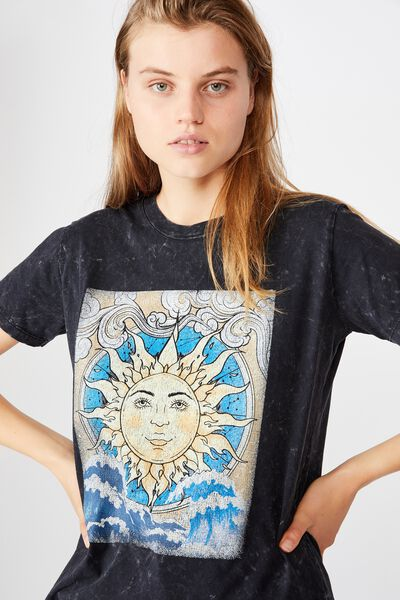 Classic Arts T Shirt, ELEMENTS TAROT/BLACK