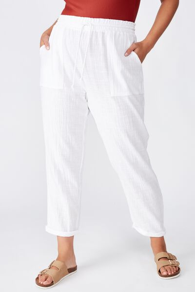 Curve Beach Resort Pant, WHITE
