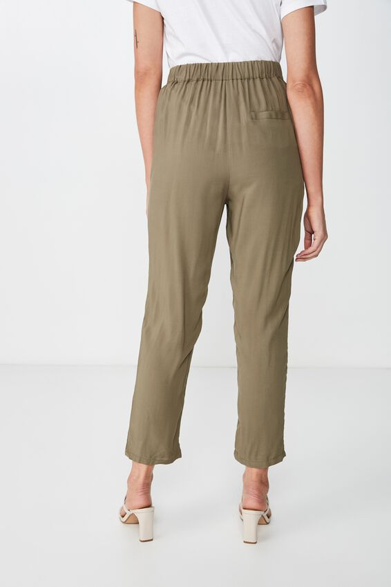 Ava Tapered Pant, BURNT OLIVE