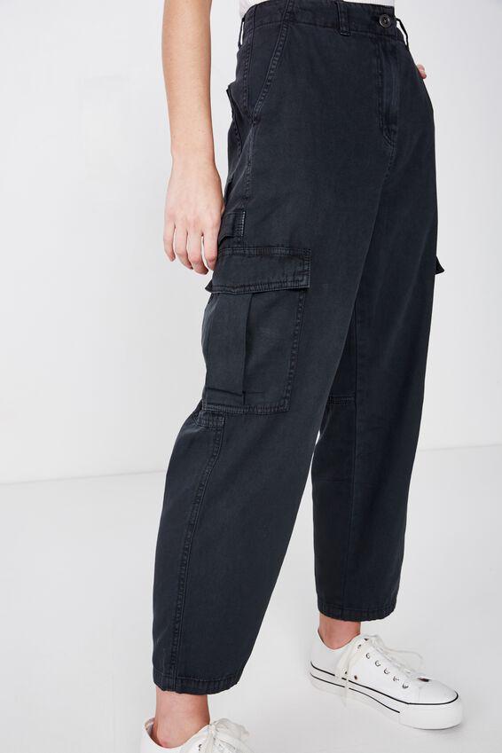 Breya Utility Pant, WASHED BLACK