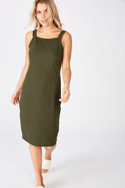 Lily Bodycon Dress, KHAKI
