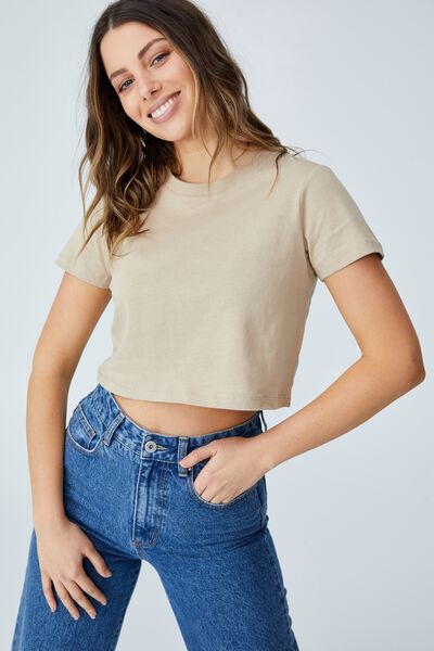 The Baby Tee, LINEN TAUPE