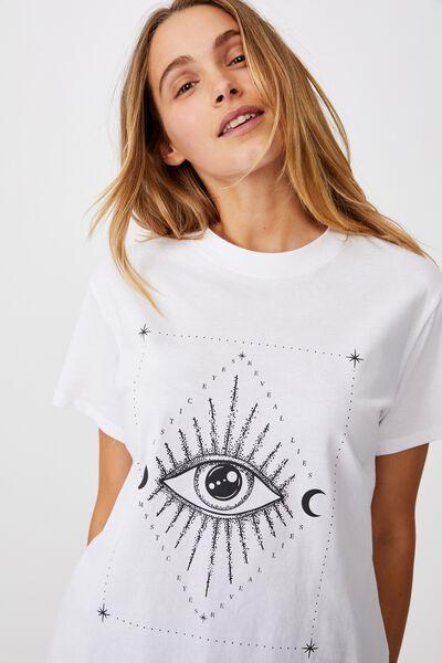 Classic Arts T Shirt, MYSTIC EYES/WHITE