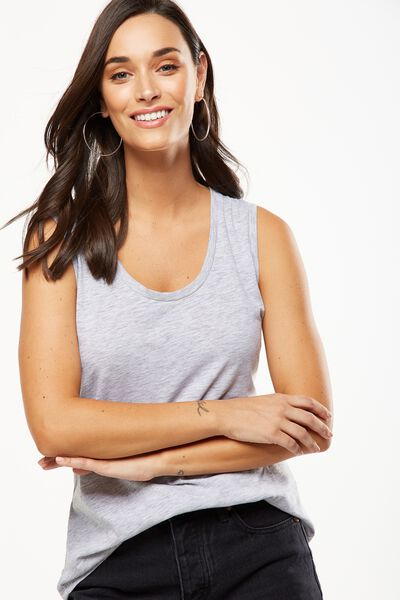 The One Scoop Tank, GREY MARLE