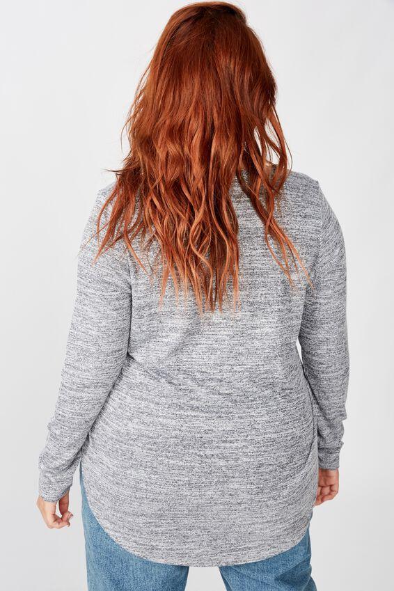 Curve Karly Long Sleeve Top, GREYS TWIST