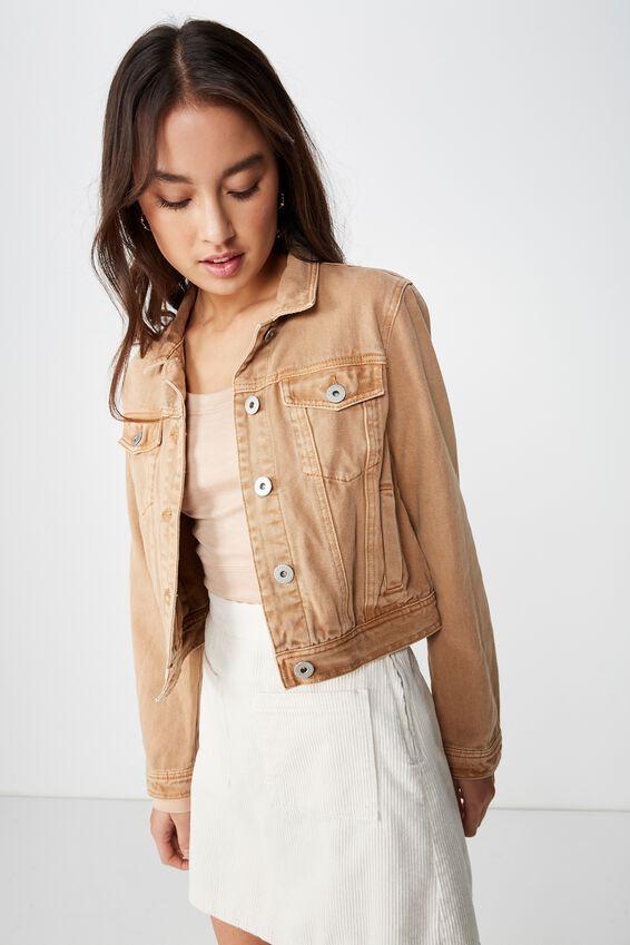 Girlfriend Fashion Denim Jacket, TAFFY