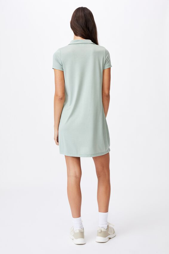 Tina Polo Tshirt Dress, LUSH GREEN
