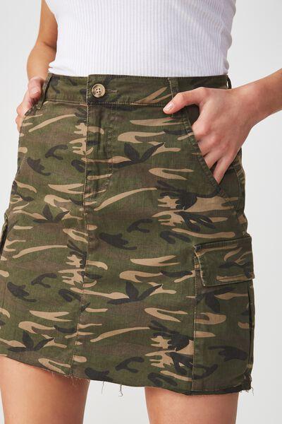 Utility Cargo Mini Skirt, CAMO