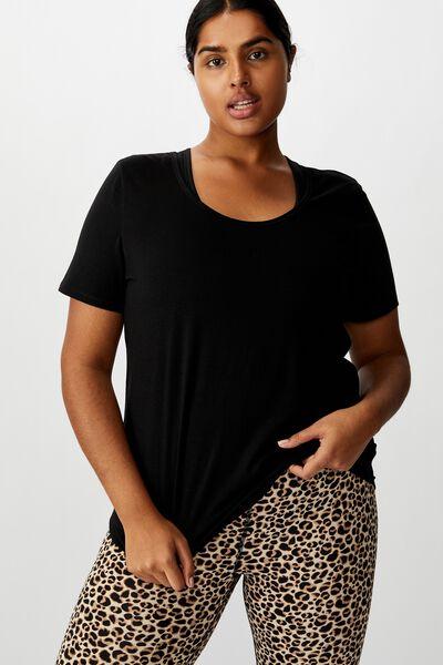 Curve Gym T-Shirt, BLACK
