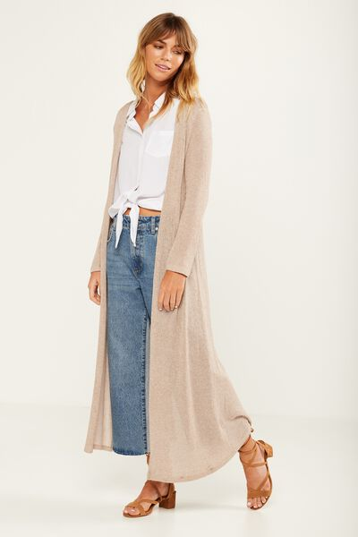 Ot Sasha Wrap Back Long Cardigan, OAT