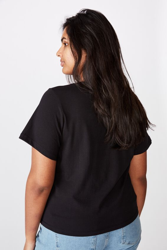 Curve The One Baby Tee, BLACK