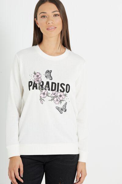 Fergi Graphic Fleece, PARADISO/GARDENIA