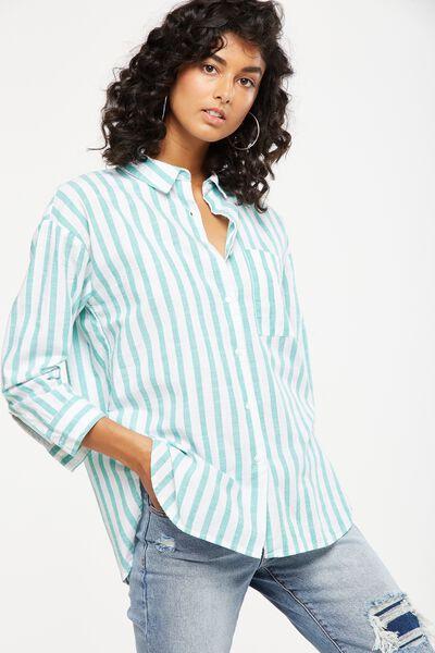 Millie Shirt, LUCY VERTICAL STRIPE CANTON