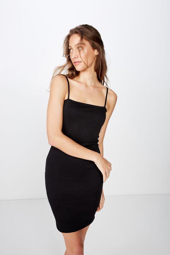 Phoebe Mini Dress, BLACK