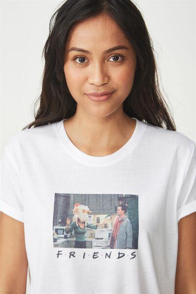 Tbar Fox Graphic T Shirt, LCN FRIENDS TURKEY HEAD/WHITE