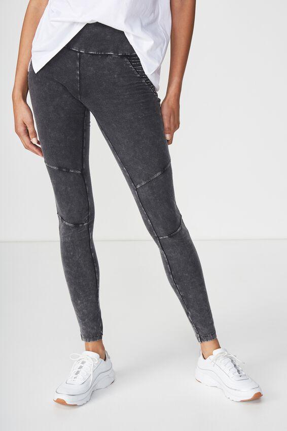Dakota Detail Legging, WASHED BLACK HIP/MOTO