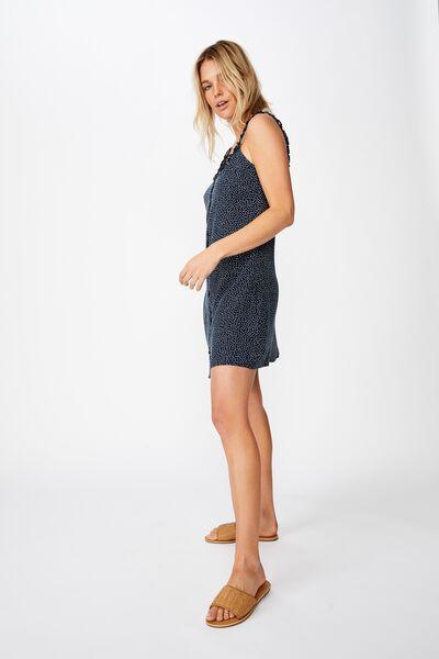 Woven Laurie Ruffle Neck Mini Dress, RIO SPOT TOTAL ECLIPSE