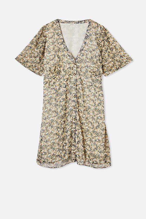 Curve Dana Puff Sleeve Mini Dress, LAURIE FLORAL MULTI