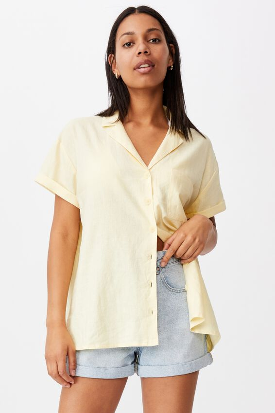 Poolside Shirt, LEMON