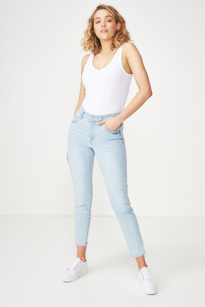 Mid Rise Grazer Skinny Jean, SUMMER BABY BLUE