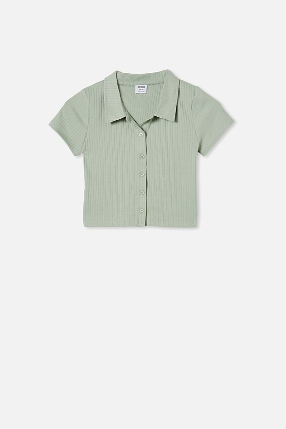 Mila Polo Short Sleeve, LUSH GREEN