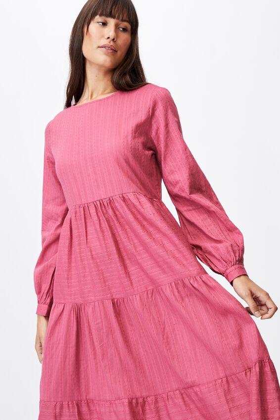 Woven Rebeka Tiered Maxi Dress, MALAGA