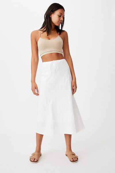 Sunset Lover Midi Skirt, WHITE