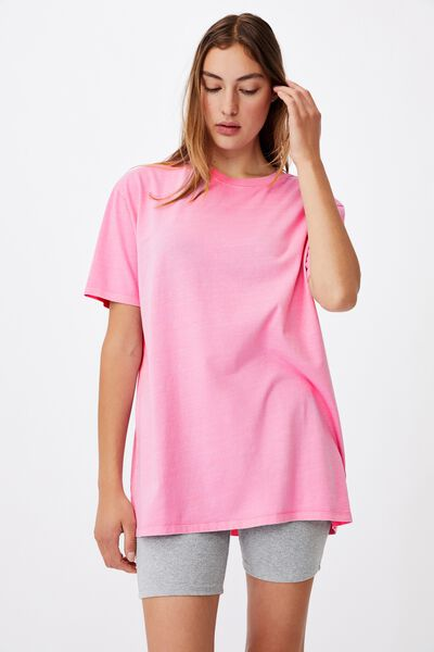 The Oversized Dad Tee, WASHED PINK CHERRY BLOSSOM