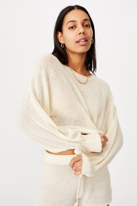 Match Me Pullover, SEASHELL WHITE