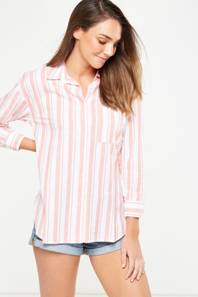 Millie Shirt, CHLOE STRIPE EMBERGLOW