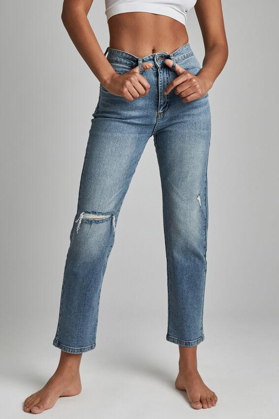 Straight Stretch Jean, BRUNSWICK BLUE RIP