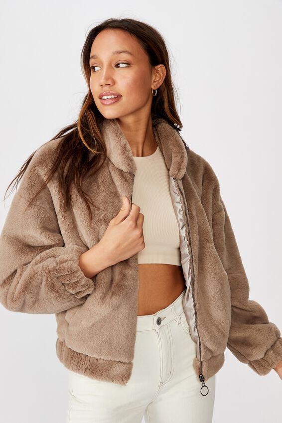 Batwing Faux Fur Jacket, NOMAD