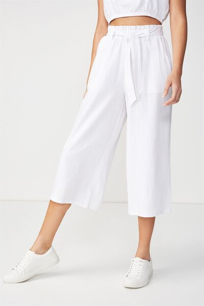 High Waist Culotte 2, WHITE